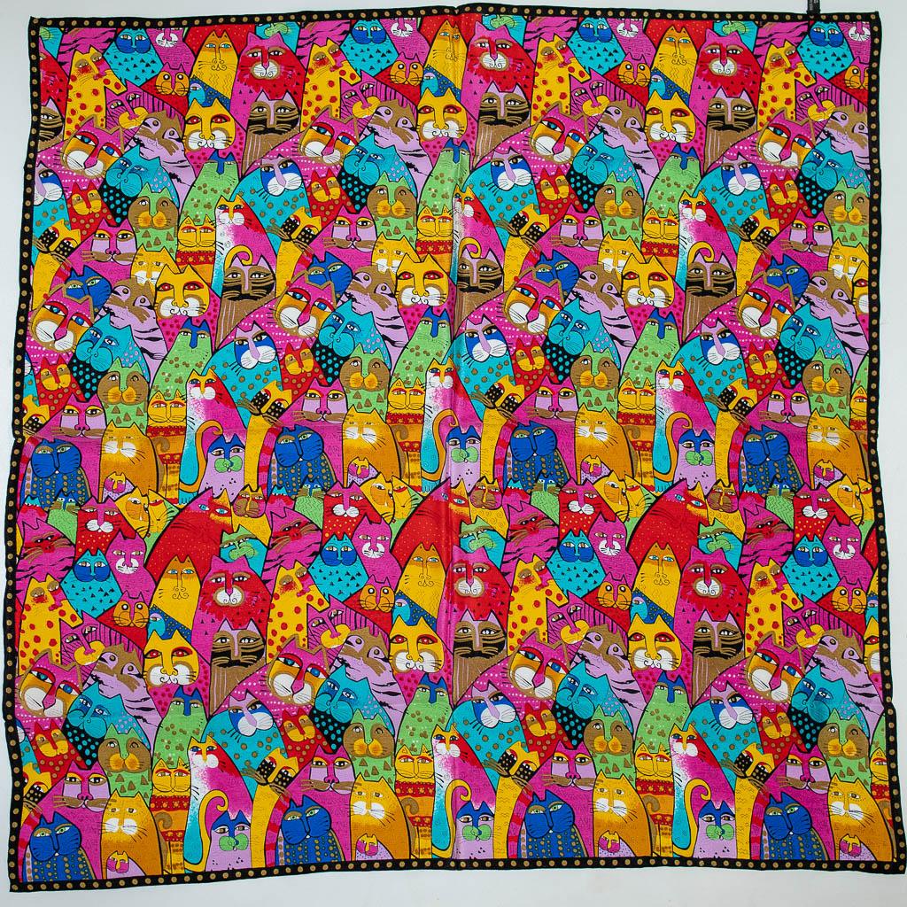 SilkPath Платок шелковый с кошками