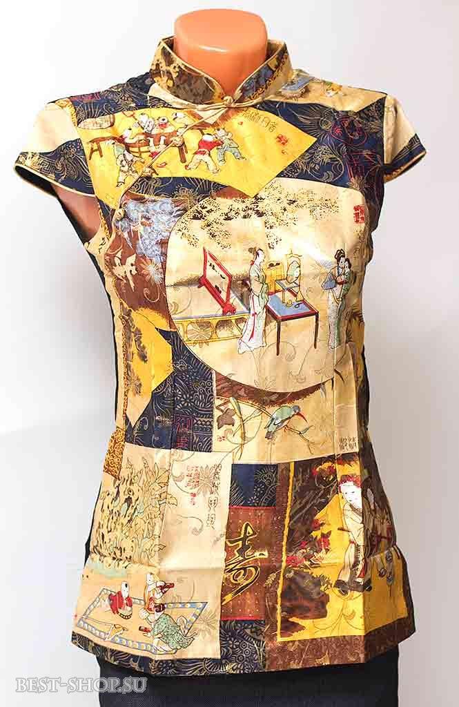 Блузка Шелковая В Японском Стиле