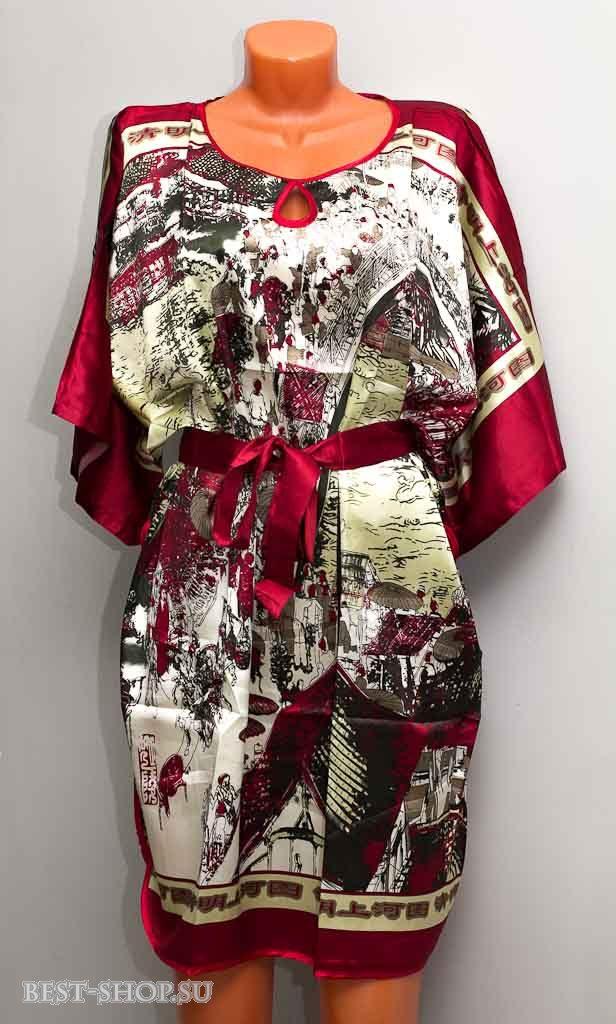 Летнее платье-туника свободного кроя